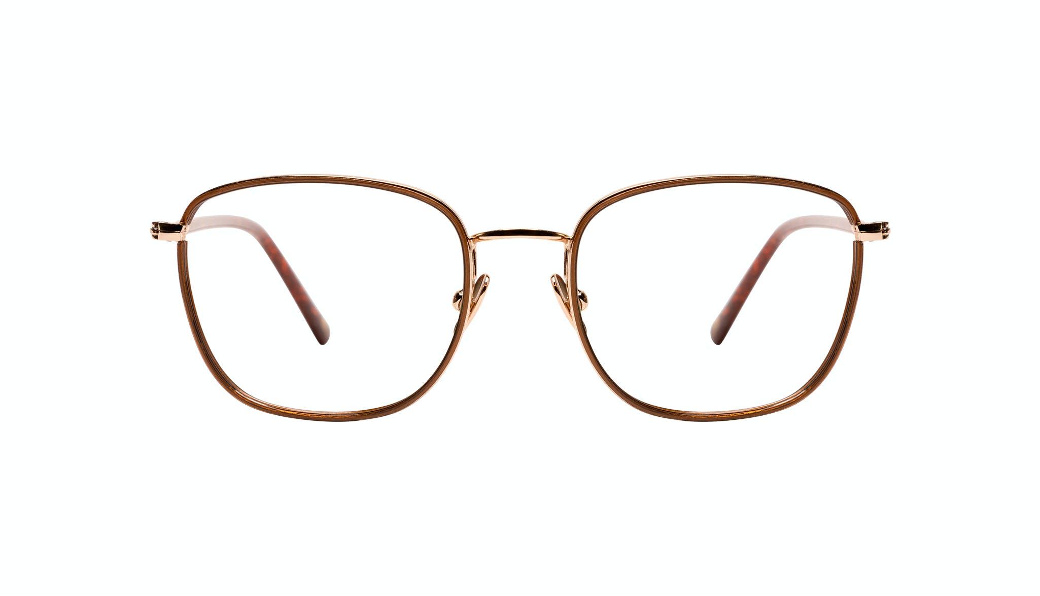 Affordable Fashion Glasses Rectangle Eyeglasses Women Lawrence Santal Front