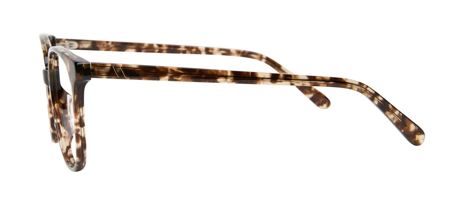 Lunettes tendance Carrée Lunettes de vue Femmes Lead Leopard Profil