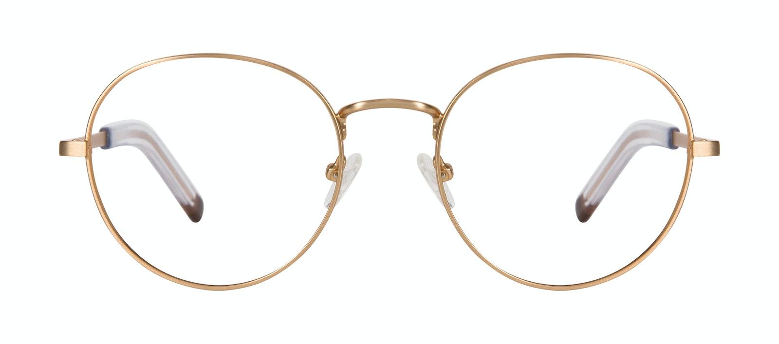 Lunettes tendance Ronde Lunettes de vue Hommes Lean XL Gold Matte Face