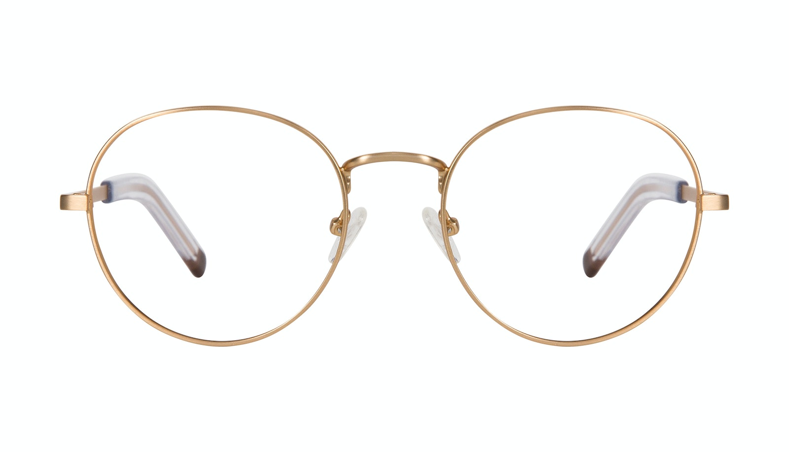 Affordable Fashion Glasses Round Eyeglasses Men Lean XL Gold Matte
