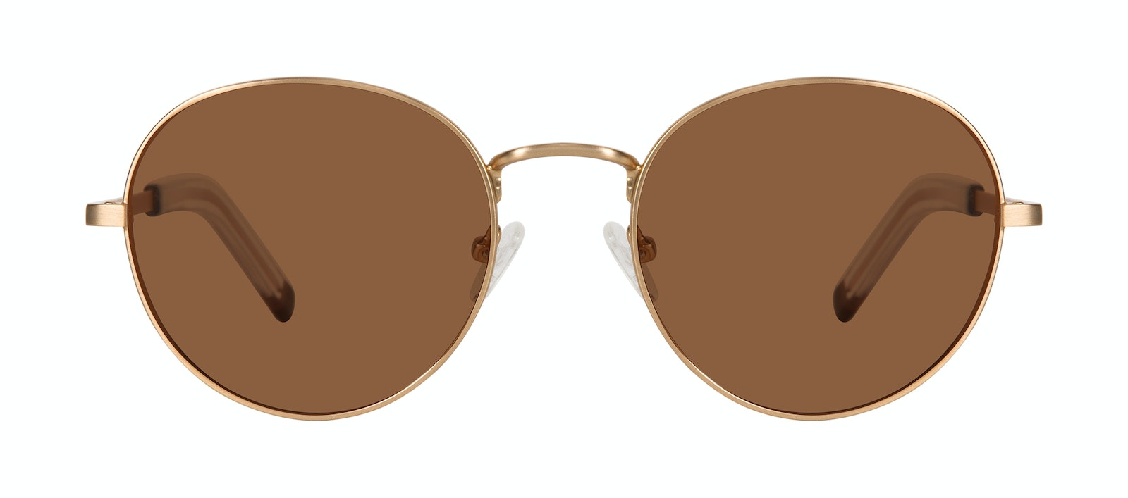 Affordable Fashion Glasses Round Sunglasses Men Lean XL Gold Matte Front