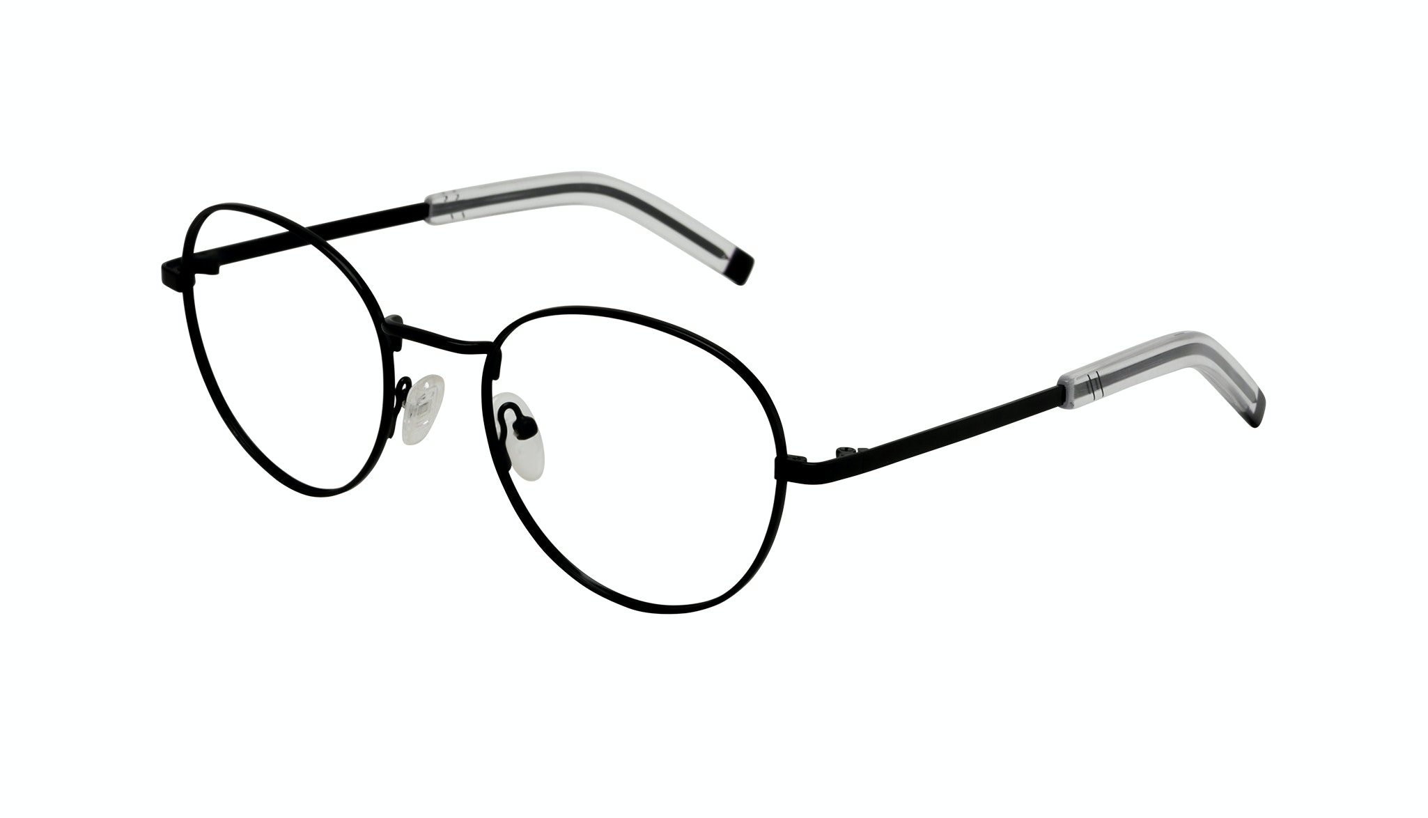 Affordable Fashion Glasses Round Eyeglasses Men Lean XL Black Tilt