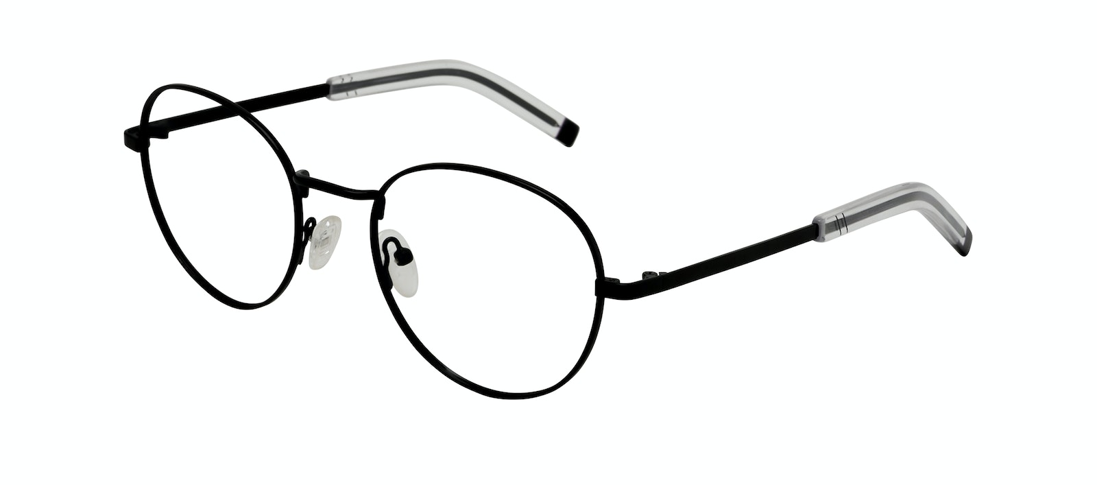 Affordable Fashion Glasses Round Eyeglasses Men Lean XL Black Tilt