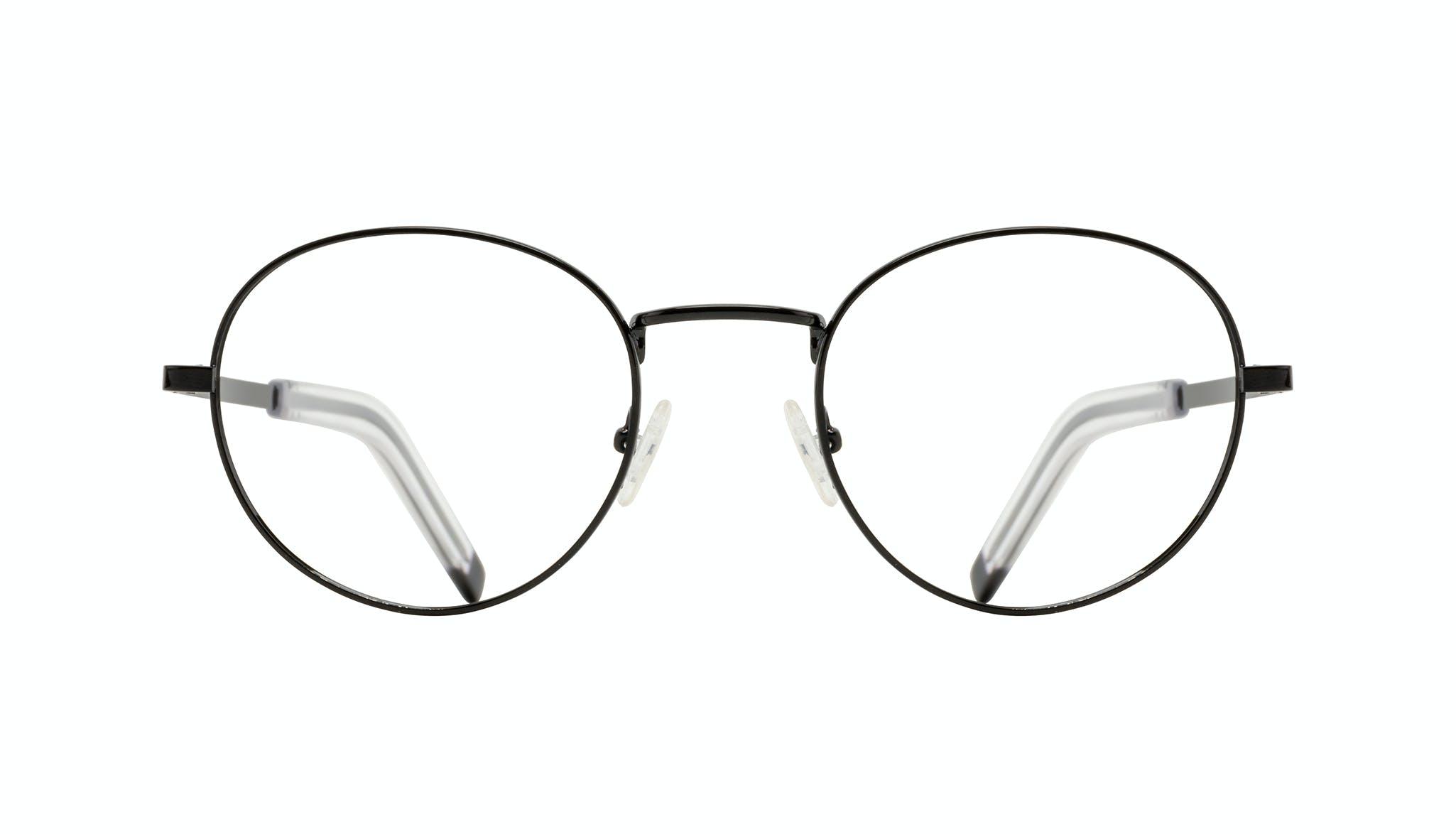 Affordable Fashion Glasses Round Eyeglasses Men Lean XL Black Front