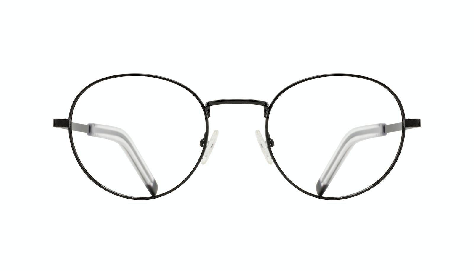 Affordable Fashion Glasses Round Eyeglasses Men Lean XL Black