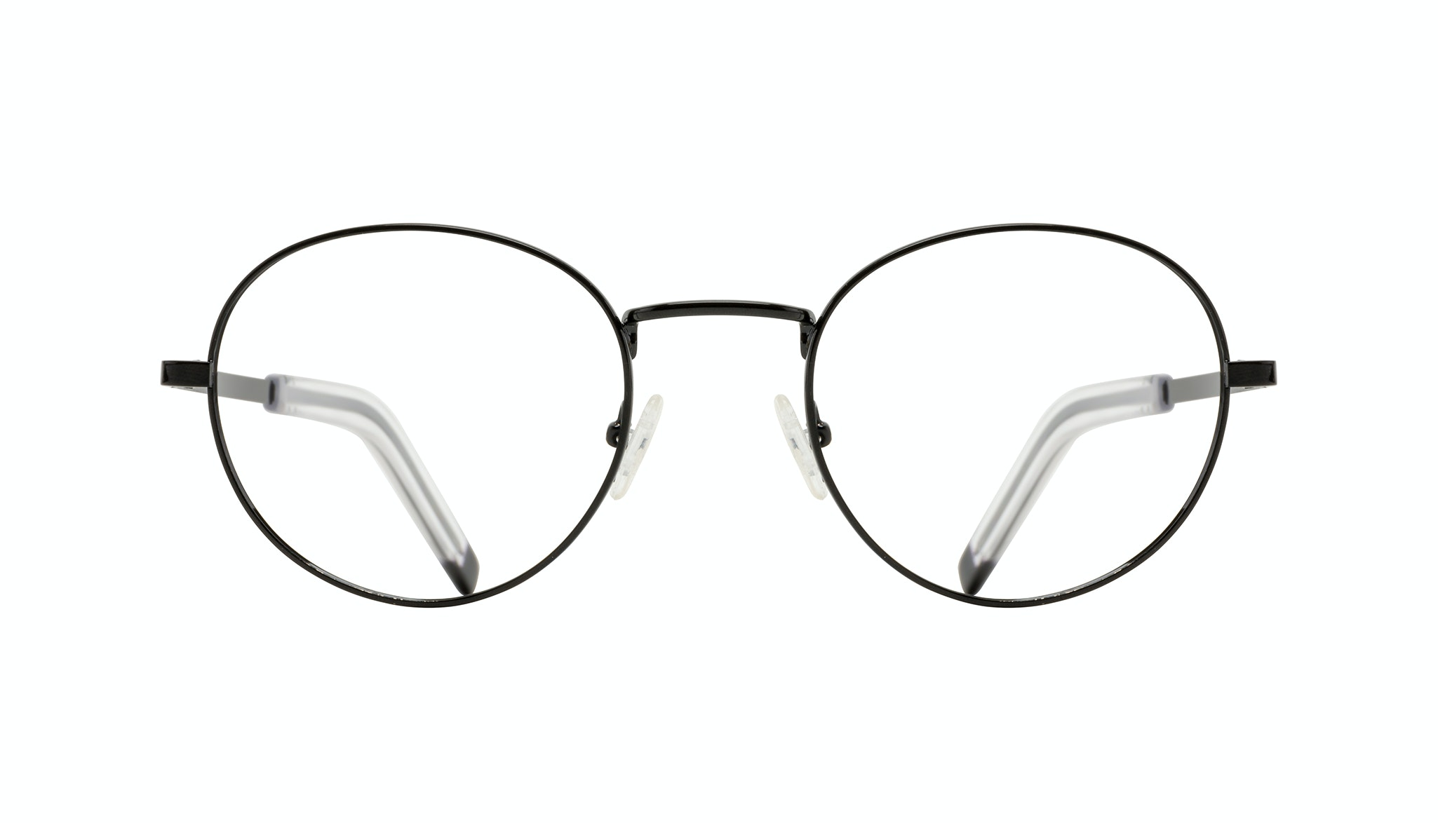 Affordable Fashion Glasses Round Eyeglasses Men Lean XL Black