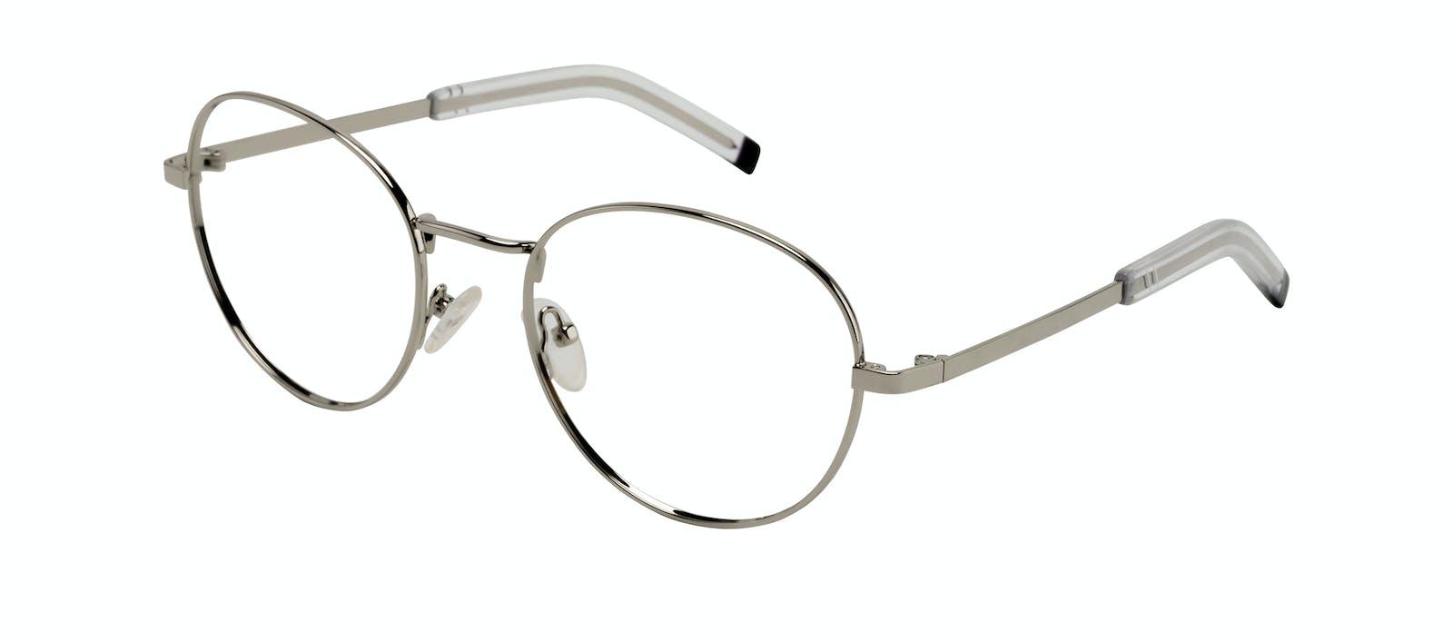 b117bae7ab Affordable Fashion Glasses Round Eyeglasses Men Lean XL Silver Tilt
