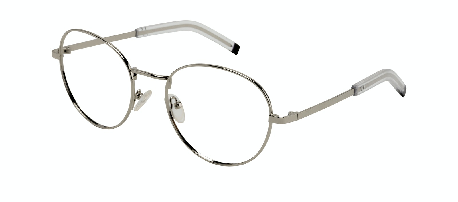 Affordable Fashion Glasses Round Eyeglasses Men Lean XL Silver Tilt