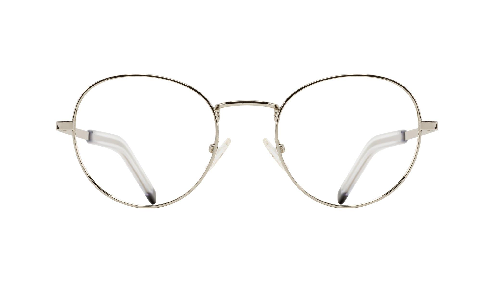 Affordable Fashion Glasses Round Eyeglasses Men Lean XL Silver