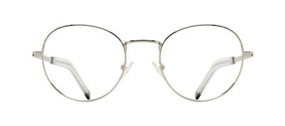 Affordable Fashion Glasses Round Eyeglasses Men Lean XL Silver Front