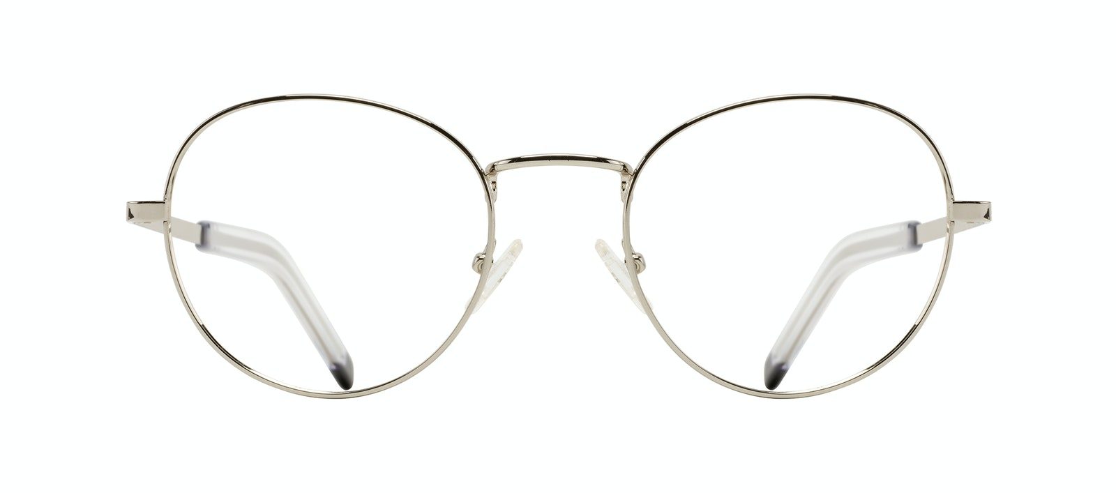 Affordable Fashion Glasses Round Eyeglasses Men Lean XL Silver Front