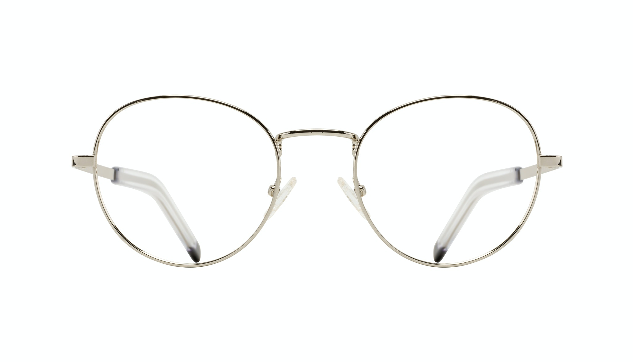 Affordable Fashion Glasses Round Eyeglasses Men Lean XL Silver
