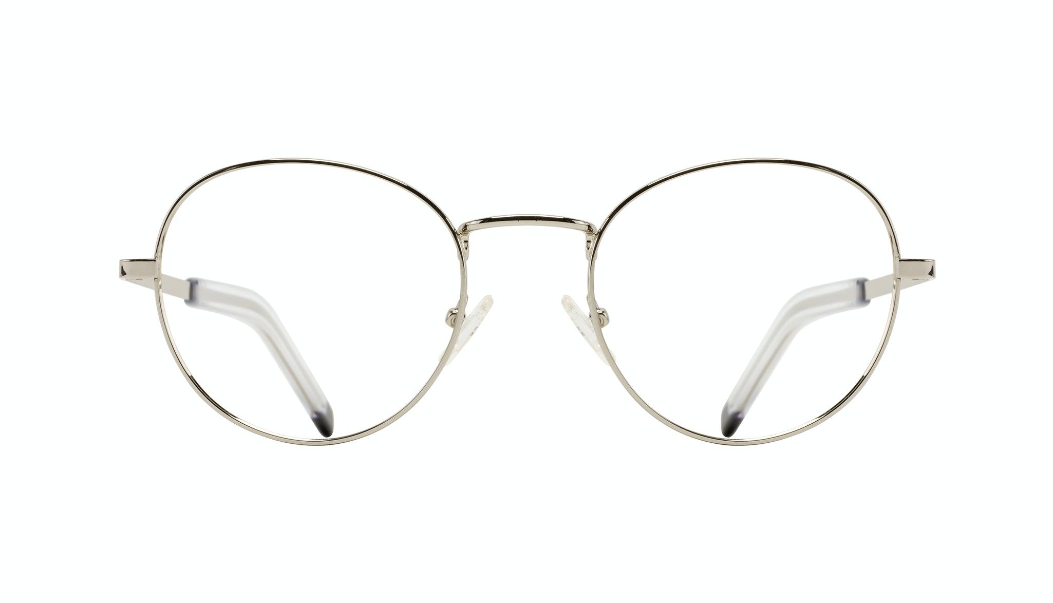 Lunettes tendance Ronde Lunettes de vue Hommes Lean XL Silver Face