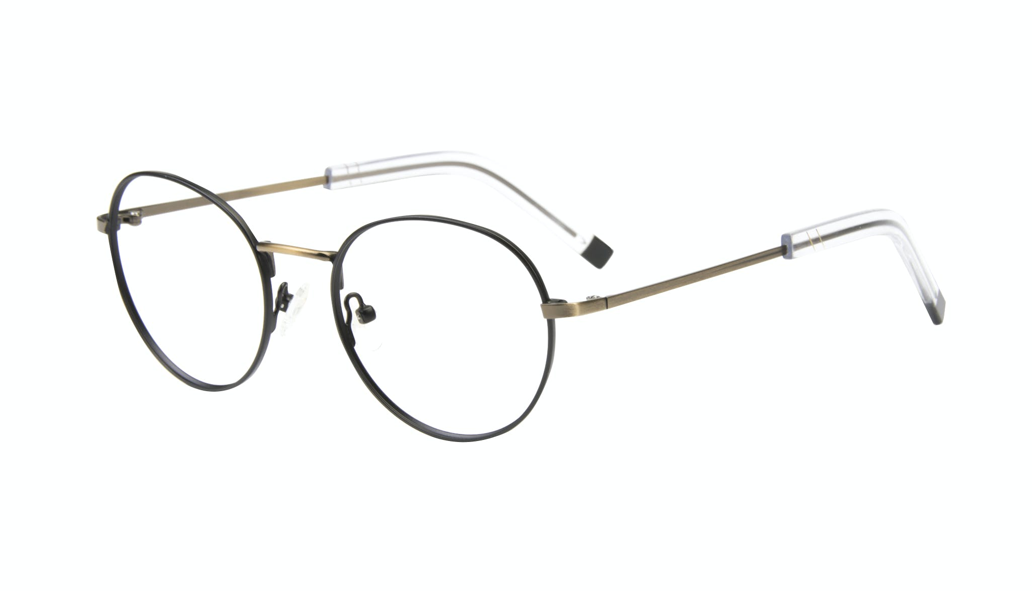 Affordable Fashion Glasses Round Eyeglasses Men Lean Dark Brass Tilt