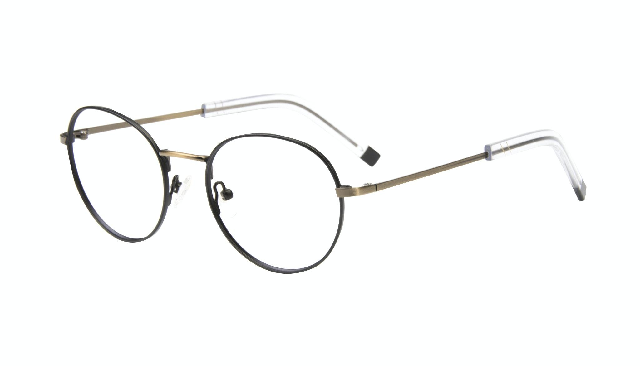 Affordable Fashion Glasses Round Eyeglasses Men Lean Dark Brass Tilt