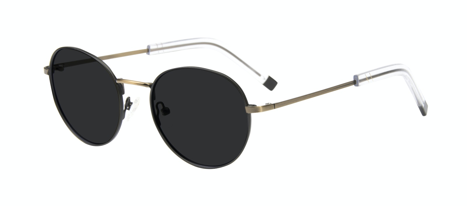 Affordable Fashion Glasses Round Sunglasses Men Lean Dark Brass Tilt
