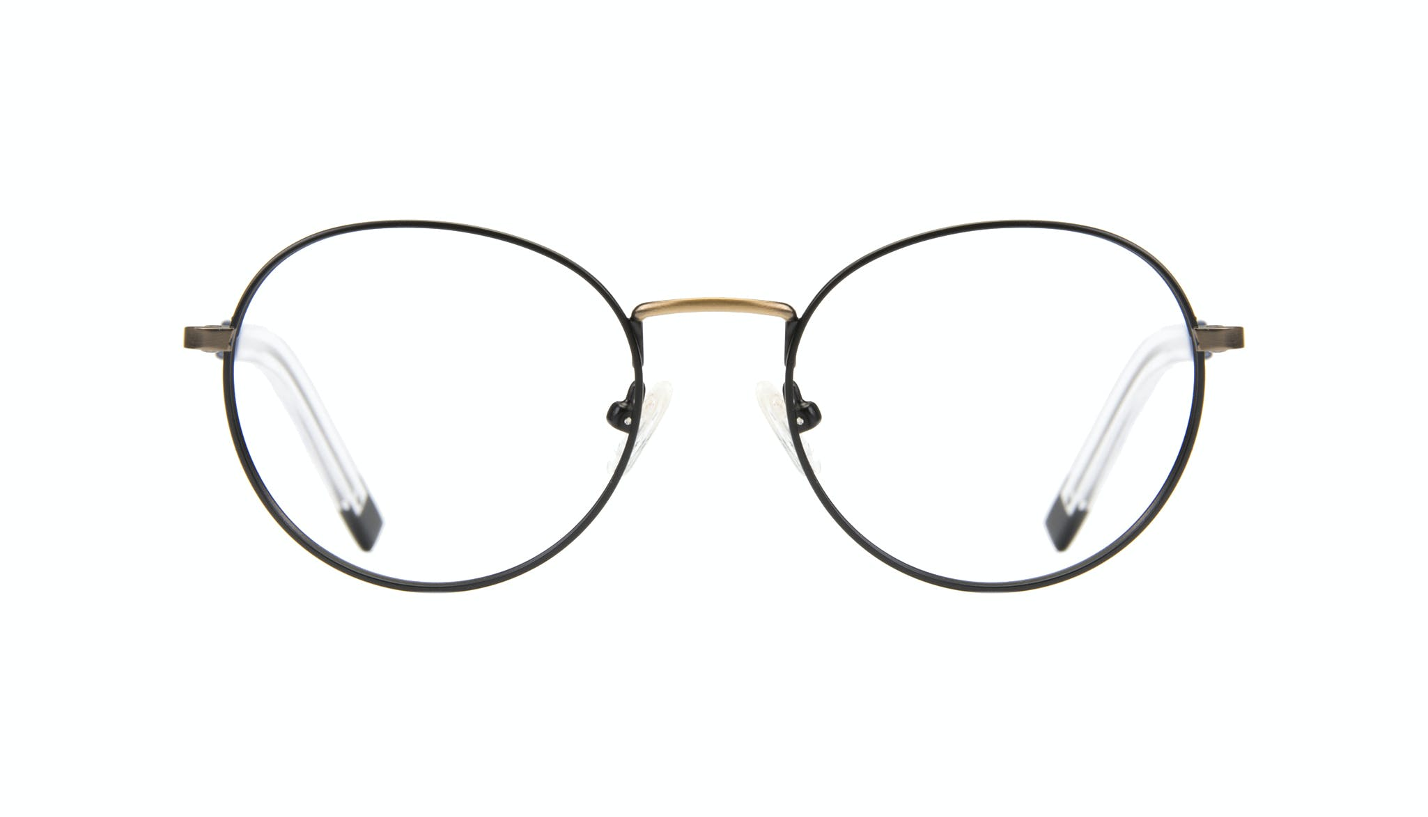 Affordable Fashion Glasses Round Eyeglasses Men Lean Dark Brass Front