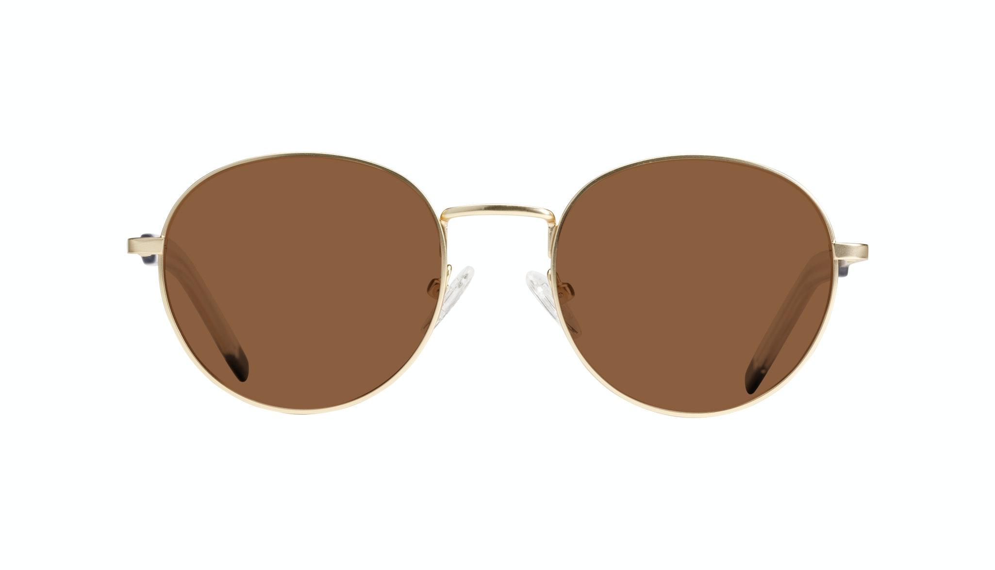 Affordable Fashion Glasses Round Sunglasses Men Lean Gold Matte