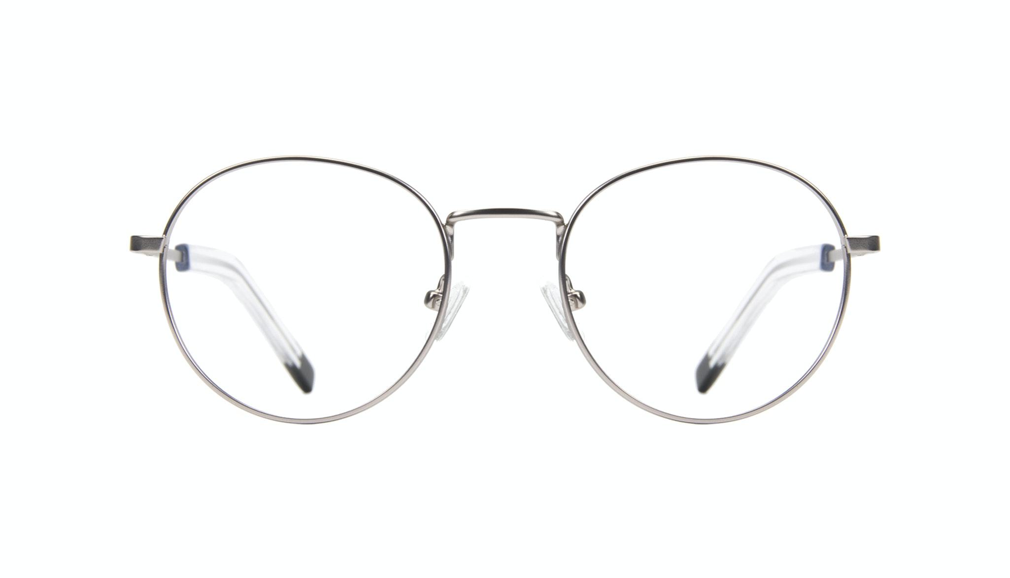 Affordable Fashion Glasses Round Eyeglasses Men Lean Steel Front