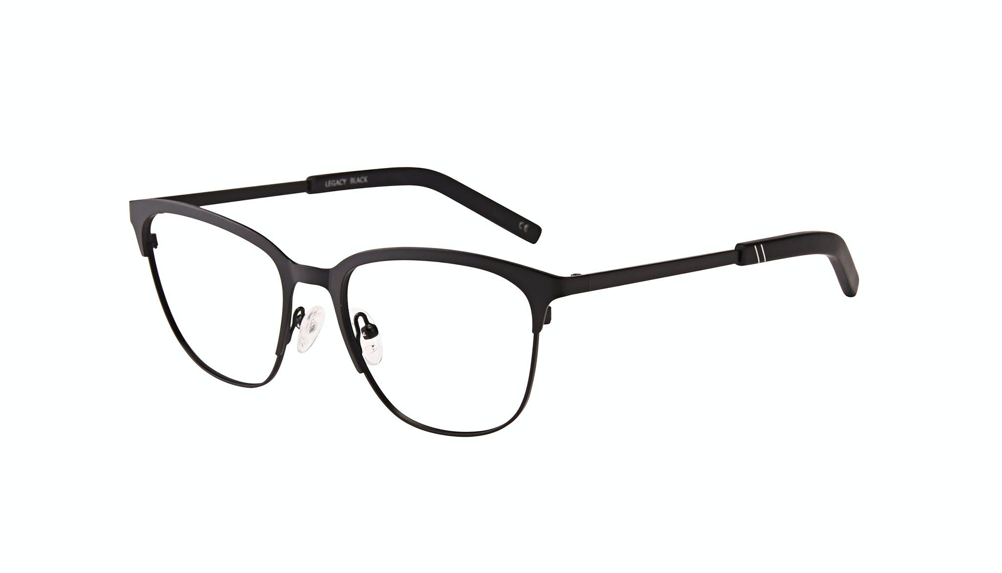 Affordable Fashion Glasses Rectangle Eyeglasses Men Legacy Black Tilt