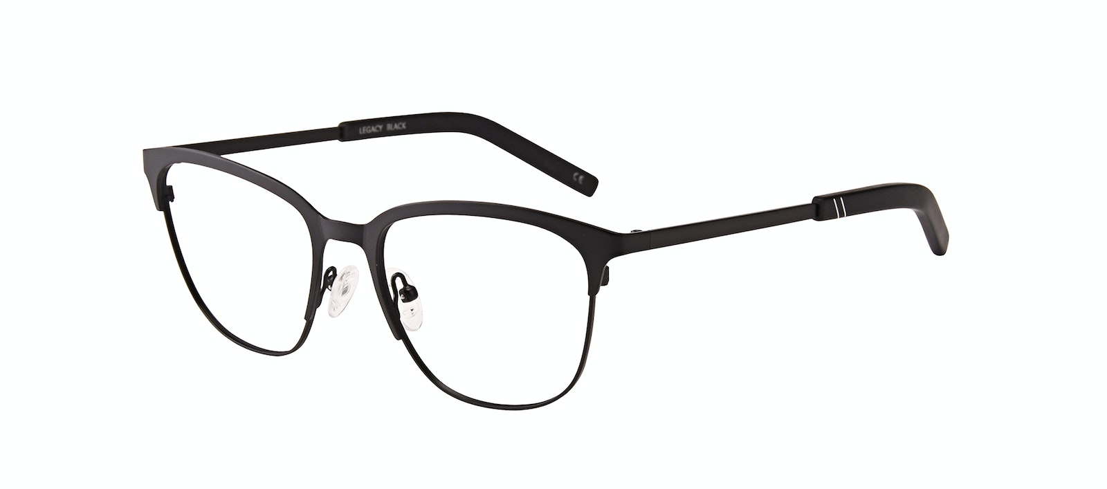 Affordable Fashion Glasses Rectangle Eyeglasses Men Legacy Black Tilt