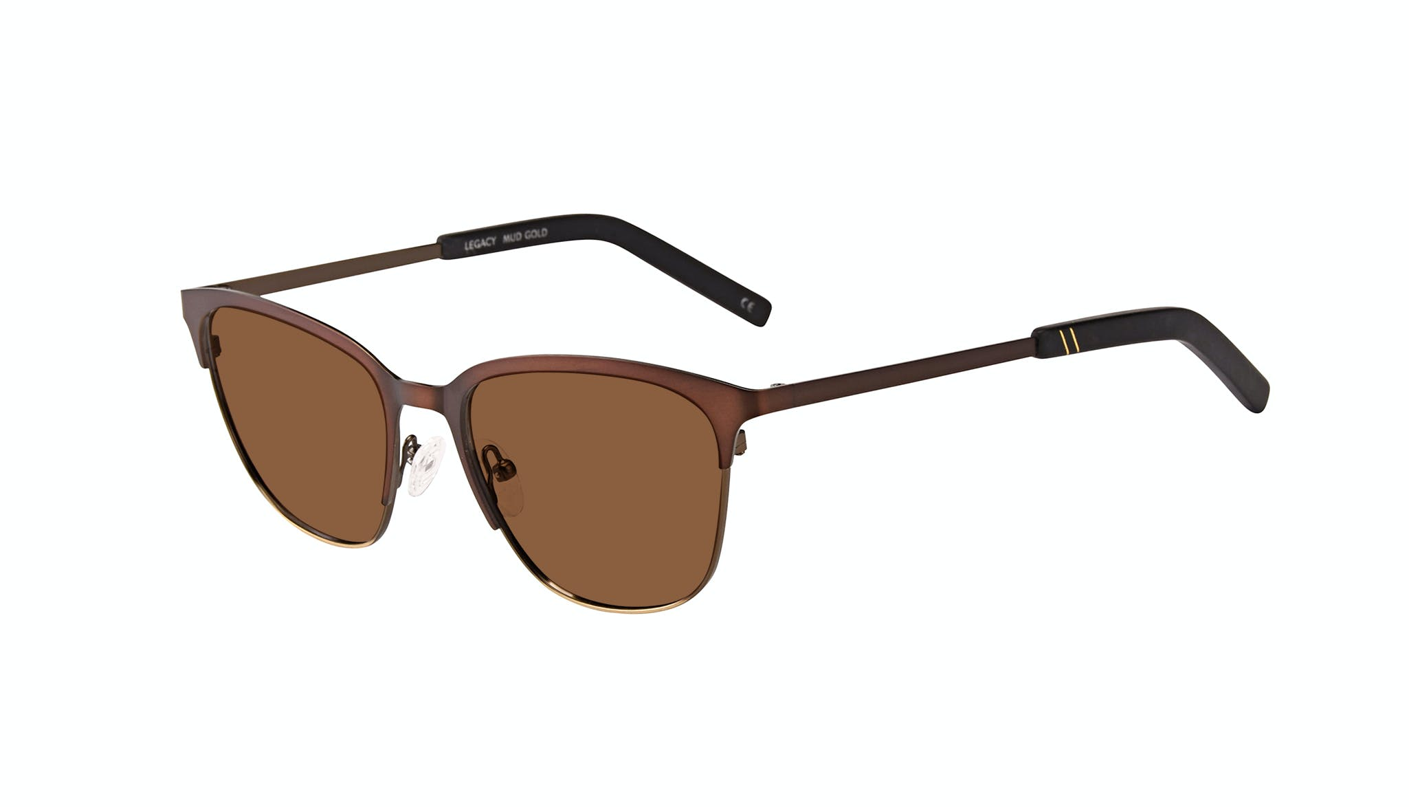 Affordable Fashion Glasses Rectangle Sunglasses Men Legacy Mud Gold Tilt
