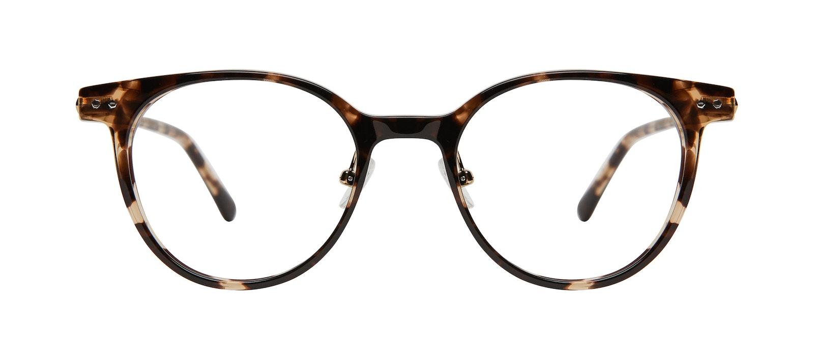 Affordable Fashion Glasses Round Eyeglasses Women Lightheart Leopard Front