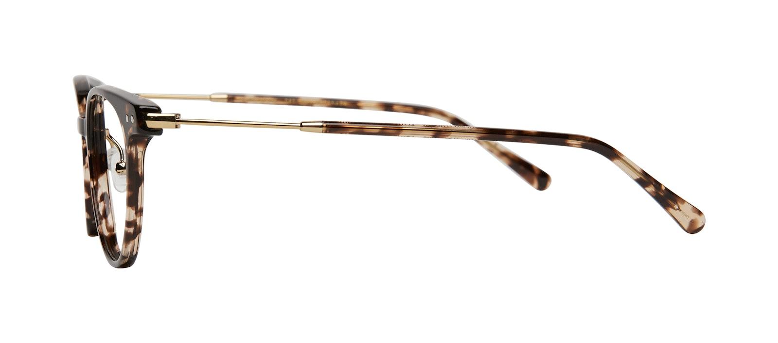 Affordable Fashion Glasses Round Eyeglasses Women Lightheart Leopard Side