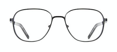 Affordable Fashion Glasses Rectangle Square Eyeglasses Men Line Black Matte Front