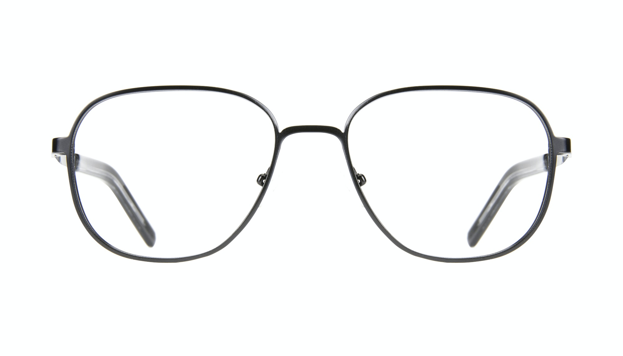 Affordable Fashion Glasses Rectangle Square Eyeglasses Men Line Black Matte