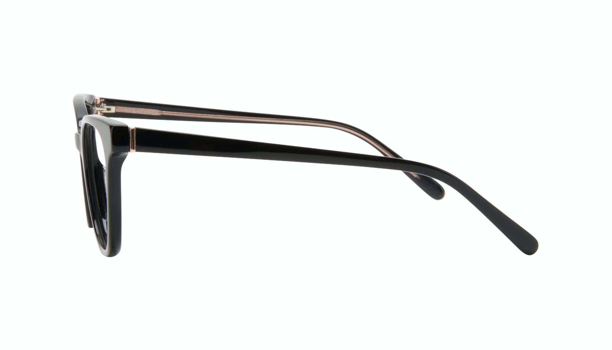 Affordable Fashion Glasses Square Eyeglasses Women Lively Black Side