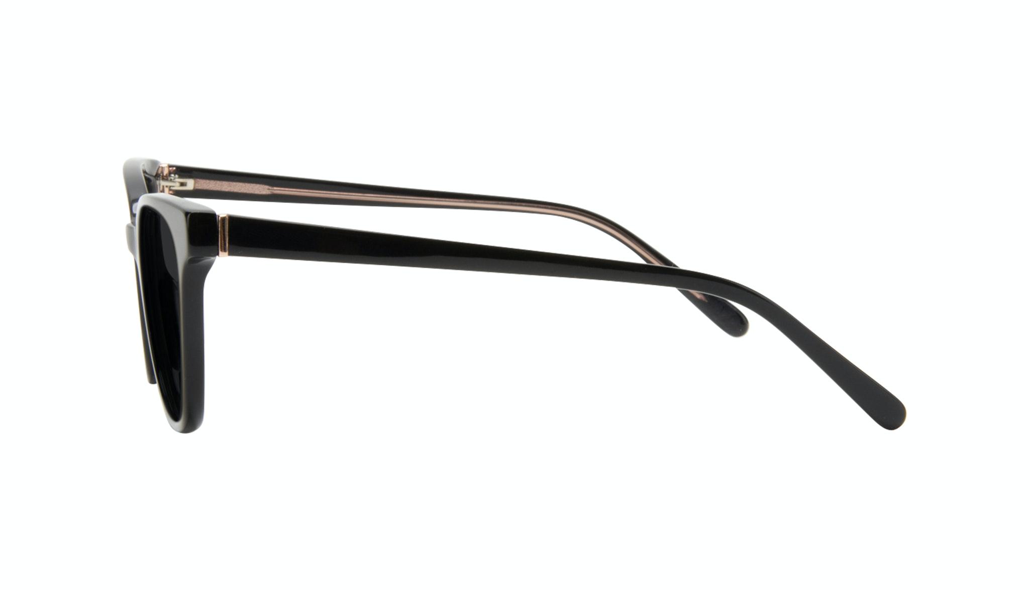 Affordable Fashion Glasses Square Sunglasses Women Lively Black Side