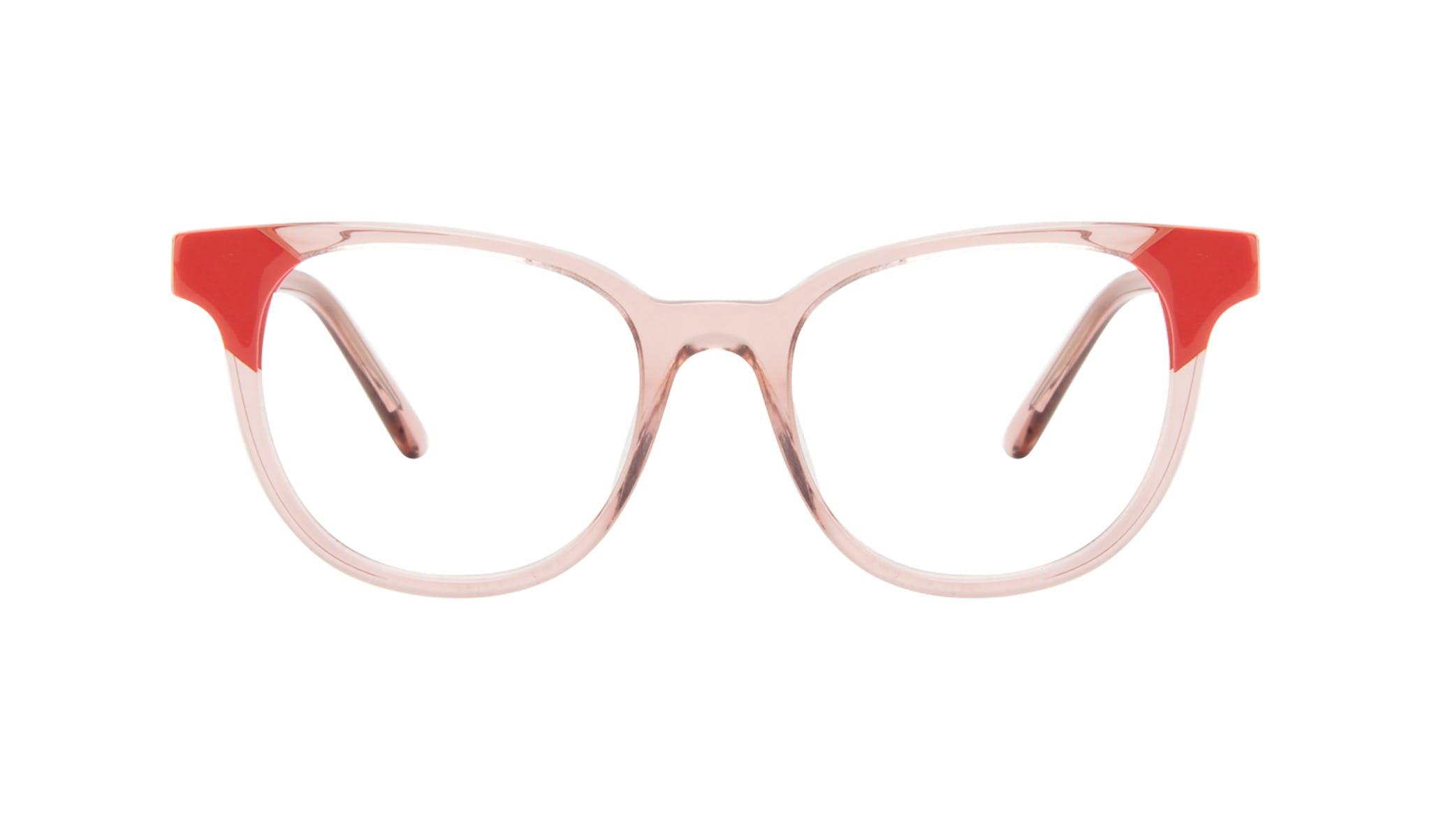 Lunettes tendance Carrée Lunettes de vue Femmes Lively Pink Coral Face