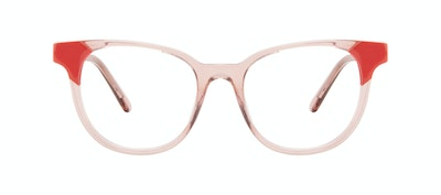 Affordable Fashion Glasses Square Eyeglasses Women Lively Pink Coral Front