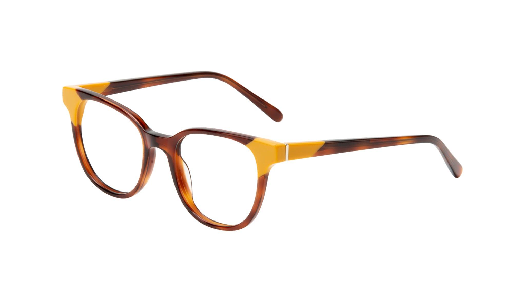 Affordable Fashion Glasses Square Eyeglasses Women Lively Yellow Pop Tilt