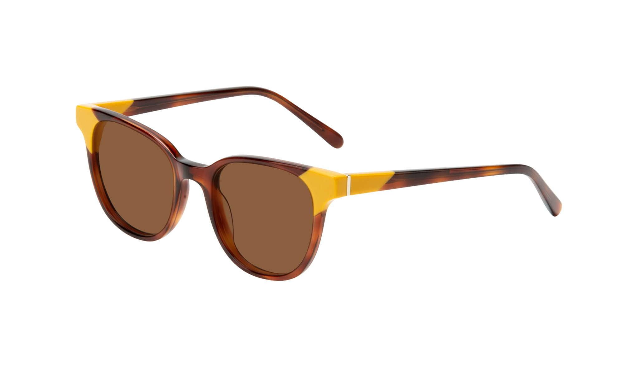 Affordable Fashion Glasses Square Sunglasses Women Lively Yellow Pop Tilt