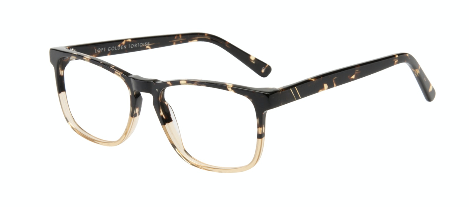 Affordable Fashion Glasses Rectangle Eyeglasses Men Loft Golden Tortoise Tilt