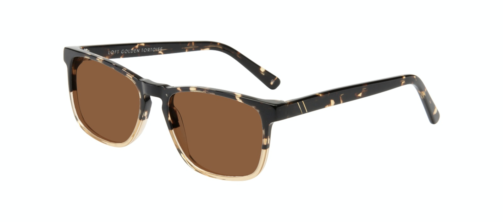 Affordable Fashion Glasses Rectangle Sunglasses Men Loft Golden Tortoise Tilt