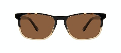 Affordable Fashion Glasses Rectangle Sunglasses Men Loft Golden Tortoise Front