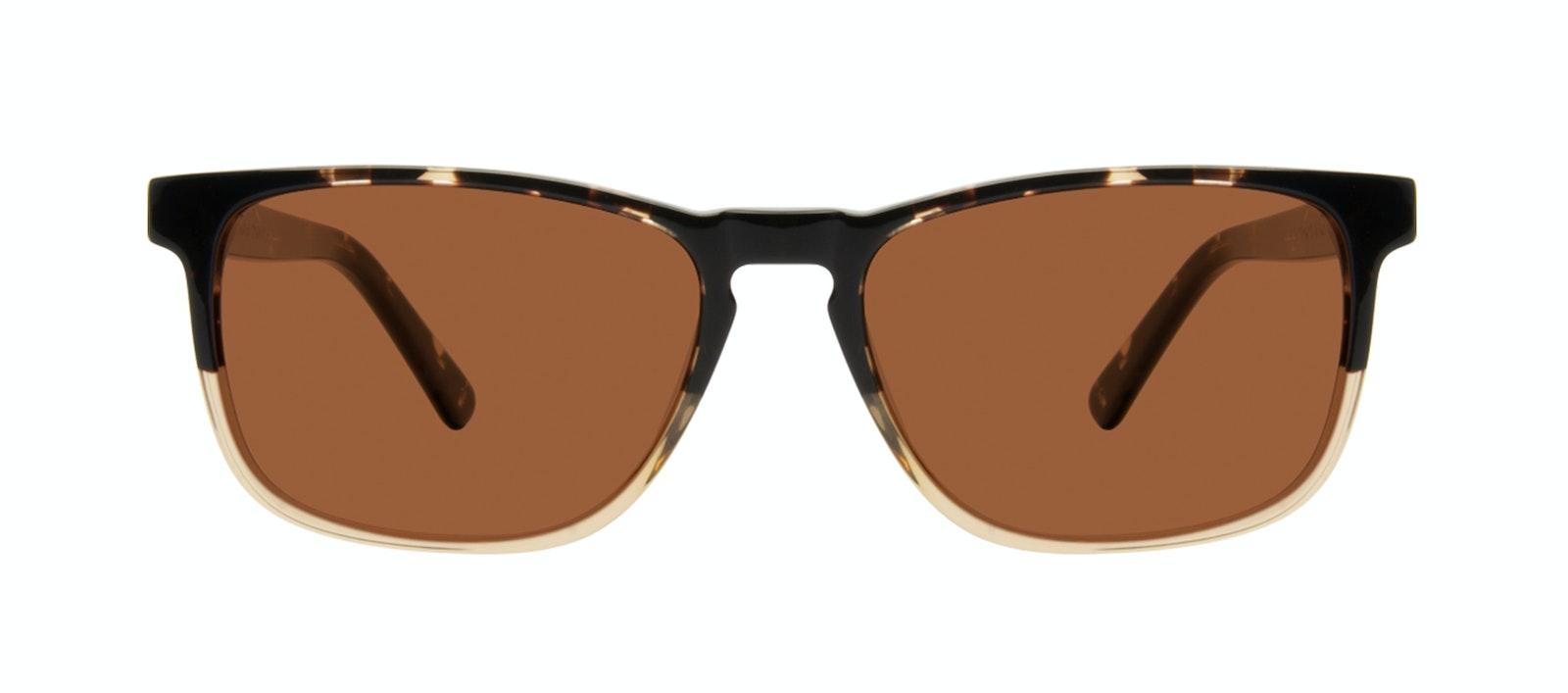 Affordable Fashion Glasses Rectangle Sunglasses Men Loft Golden Tortoise Front