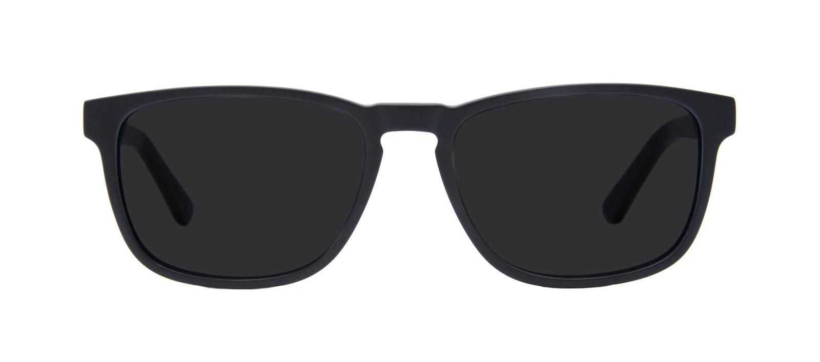 Lunettes tendance Rectangle Lunettes de soleil Hommes Loft Matte Black Face