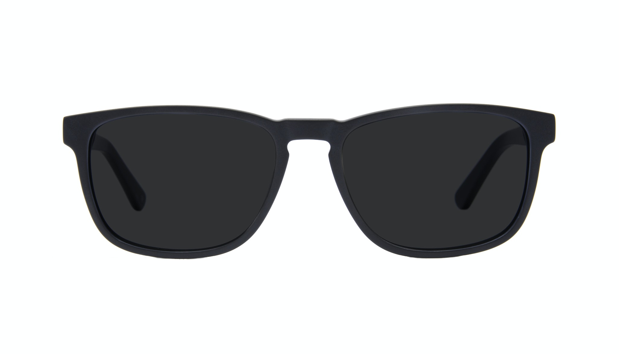 Affordable Fashion Glasses Rectangle Sunglasses Men Loft Matte Black Front