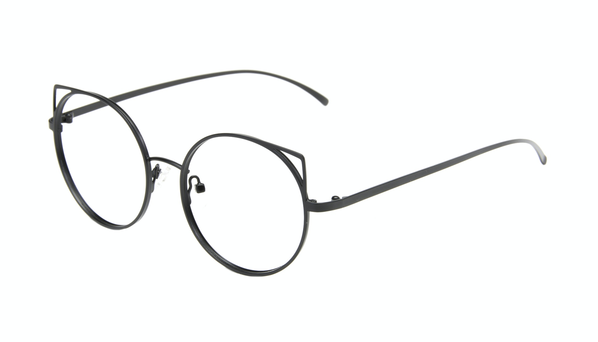 Affordable Fashion Glasses Cat Eye Round Eyeglasses Women Lolly Back To Black Tilt