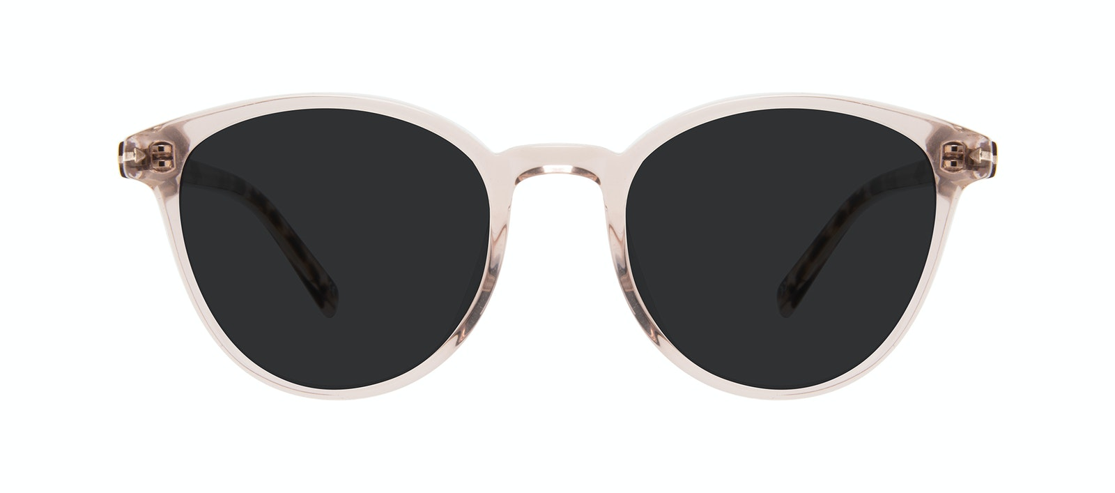 Affordable Fashion Glasses Round Sunglasses Women London Blush Front