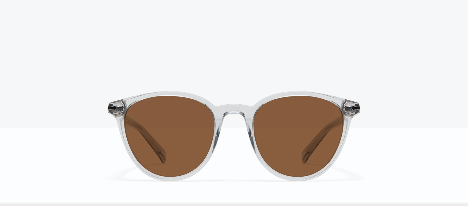 Affordable Fashion Glasses Round Sunglasses Women London Taupe Front