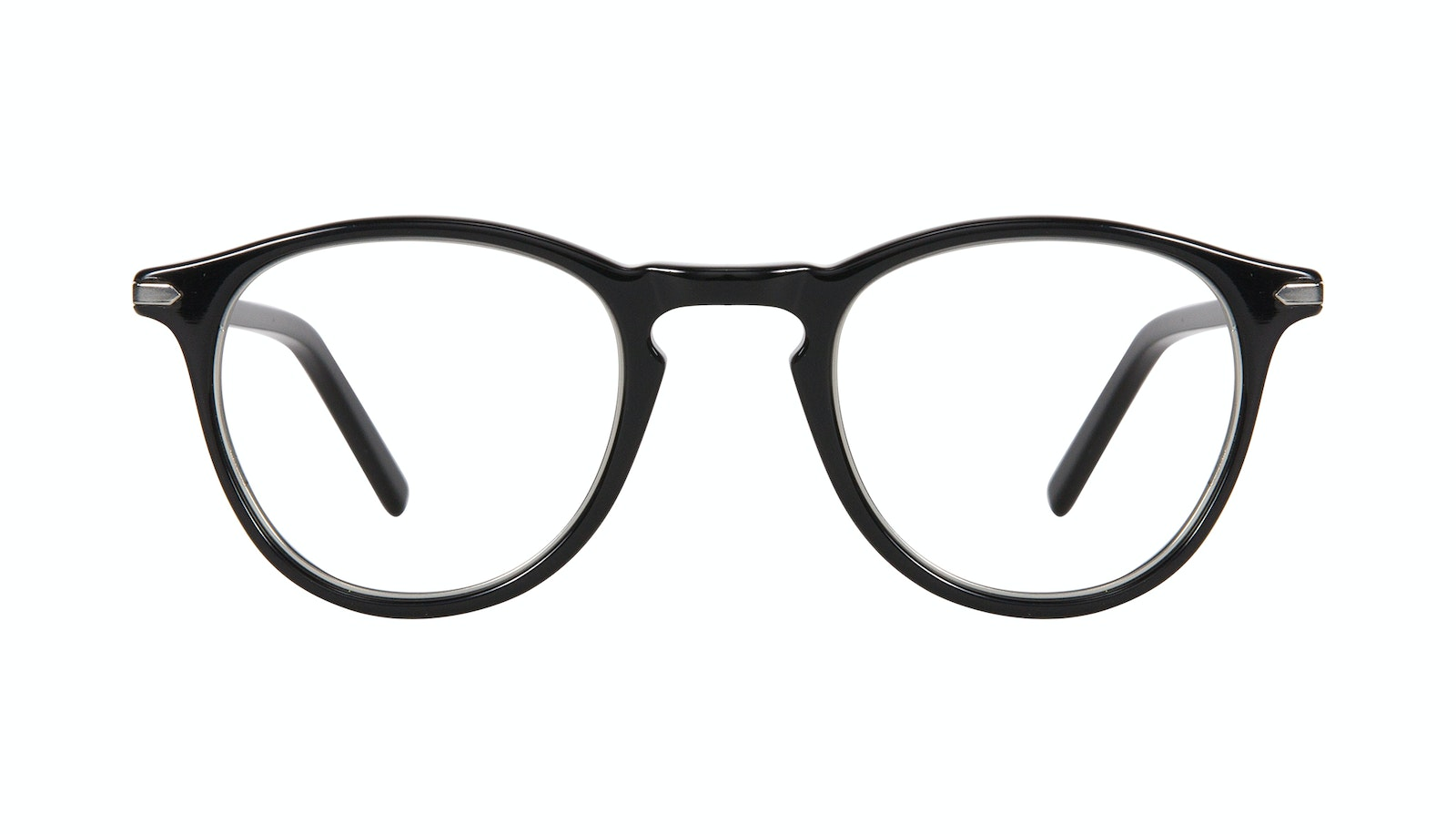 Affordable Fashion Glasses Round Eyeglasses Men Looks Onyx Silver
