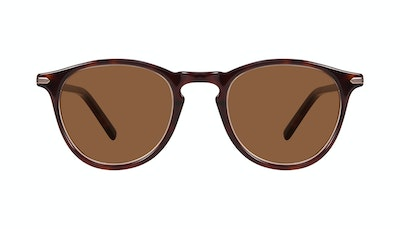 Affordable Fashion Glasses Round Sunglasses Men Looks Tortoise Front