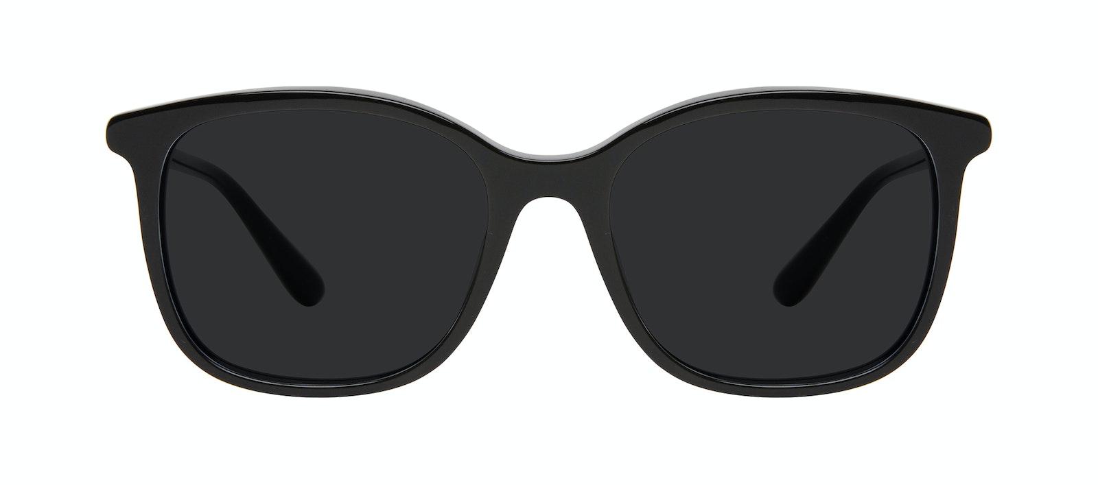Affordable Fashion Glasses Square Sunglasses Women Luna Onyx Front