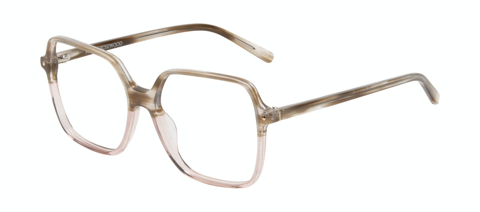 Affordable Fashion Glasses Square Eyeglasses Women Major Rosewood Tilt