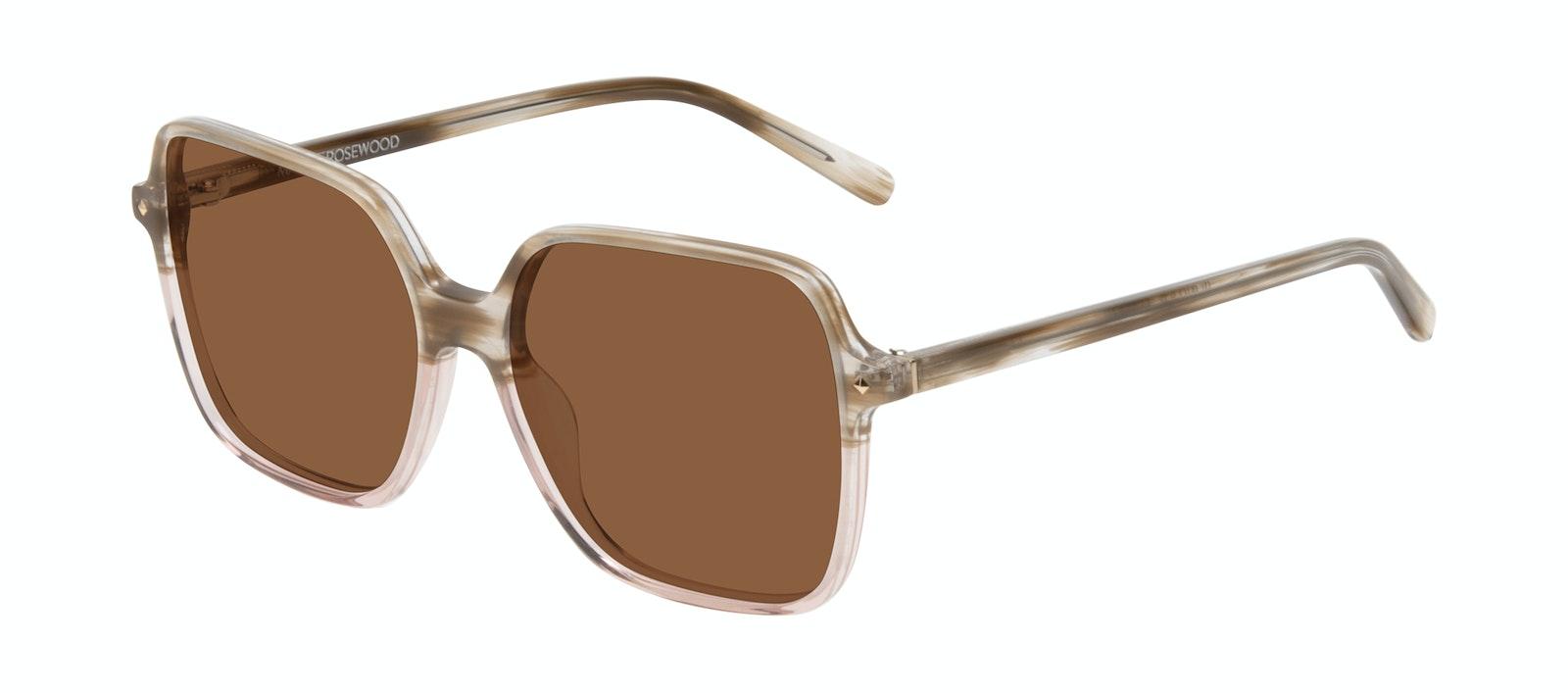 Affordable Fashion Glasses Square Sunglasses Women Major Rosewood Tilt